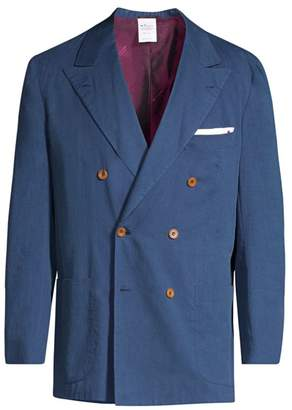 Kiton Double-Breasted Chambray Sport Coat