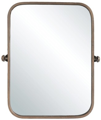 Overstock Metal Framed Pivoting Wall Mirror - Copper
