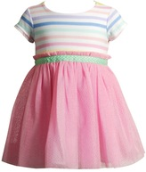 Youngland Baby Girl Striped Tulle Dress