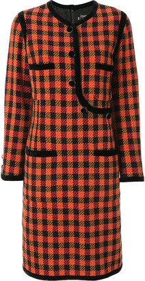 Chanel Pre Owned Tartan Check Dress