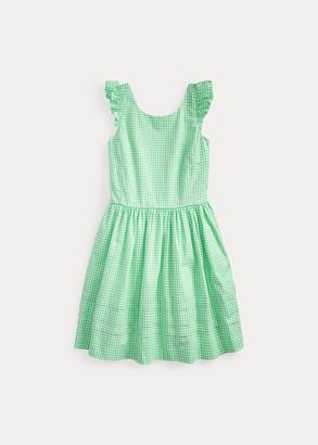 Ralph Lauren Gingham Cotton Poplin Dress