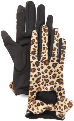 Jeanne Simmons Accessories Women's Casual Gloves Cheetah - Brown & Tan Cheetah Square-Cutout Touchscreen Gloves