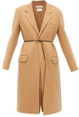 Bottega Veneta Single-breasted Belted Cashmere Coat - Womens - Camel