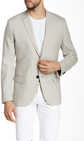 Kenneth Cole New York Beige Two Button Peaked Lapel Blazer