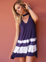West Coast Wardrobe Sun Cruiser Dip Dye High Neck Dress in Indigo