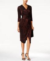 Rachel Roy Metallic Faux-Wrap Dress