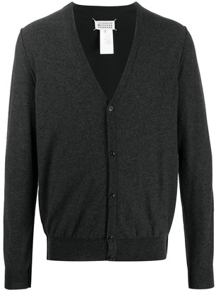 Maison Margiela piped buttoned V-neck cardigan