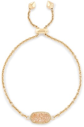 Kendra Scott Elaina Adjustable Chain Bracelet in Sand Drusy
