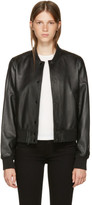 Rag & Bone Black Leather Cooper Bomber Jacket