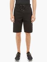 Helmut Lang Black Side-Stripe Neoprene Shorts