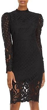Bardot Taylah Puff Sleeve Lace Dress