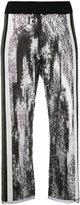 Aviu sequins embellished flared pants - women - Cotton/Polyamide/Polyester/Spandex/Elastane - 42