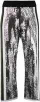 Aviu sequins embellished flared pants - women - Polyamide/Spandex/Elastane/Cotton/Polyester - 42