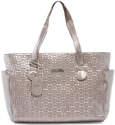 Folli Follie Stone Floral-Embossed Tote