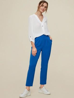 Dorothy Perkins High Waist Button Detail Trousers -Cobalt