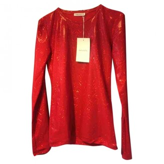 Saks Potts Red Glitter Tops