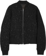 Rag & bone Challenge embroidered textured-jersey bomber jacket