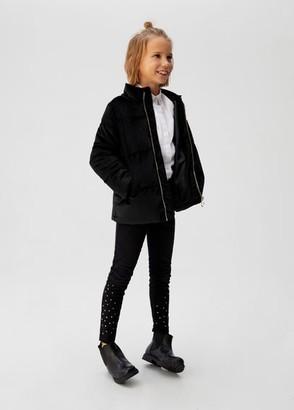 MANGO Velvet quilted jacket