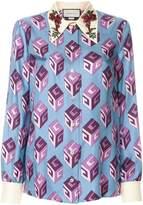Gucci GG Wallpaper blouse