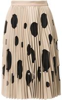 MSGM dotted pleated skirt - women - Polyester/Spandex/Elastane/Viscose - 40