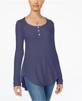 American Rag Lace Contrast Henley, Only at Macy's