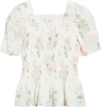 Rachel Parcell Square Neck Smock Top