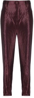 PHAEDO STUDIOS satin cropped trousers