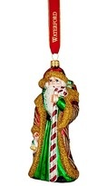 Waterford Holiday House of Candy Cane Santa Ornament