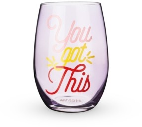 Blush Lingerie You Got This Stemless Wine Glass