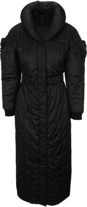 Marine Serre Long-Line Puffer Coat
