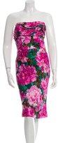 Balenciaga Silk Gathered-Paneled Dress