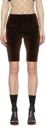 Supriya Lele Brown Velvet Cycling Shorts