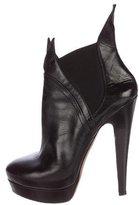 Alaia Leather Platform Ankle Boots