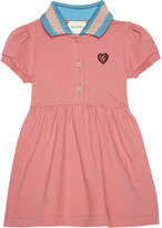 Gucci Web collar cotton polo dress 6-36 months
