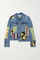 Loewe Patchwork Denim Printed Cotton And Silk-blend Jacket