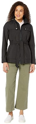 Tommy Hilfiger Adaptive Belted Jacket With Magnetic Zipper (TH Deep Knit Black) Women's Clothing