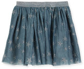 Stella McCartney Honey Glittered Star-Print Tulle Skirt, Size 4-14