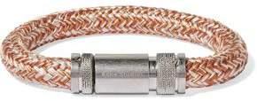 Acne Studios Jack Braided Cord And Silver-Tone Bracelet