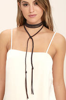 LuLu*s Wild and Wily Brown Wrap Necklace