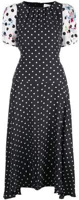 Tanya Taylor polka dot flared Cassandra dress