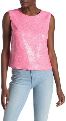 Rachel Roy Addie Sequin Back Cutout Tank Top