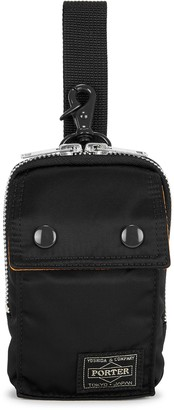 Porter Small black padded nylon pouch