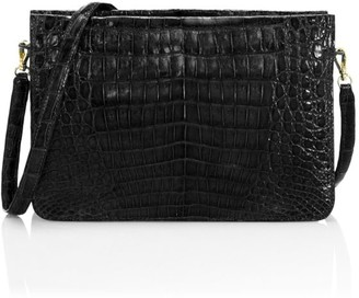 Nancy Gonzalez Leather-Trimmed Crocodile Crossbody Bag