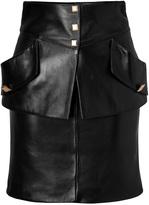 Ungaro Leather Pocket Skirt in Black