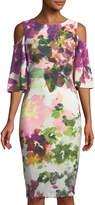 Jax Cold-Shoulder Floral Sheath Dress