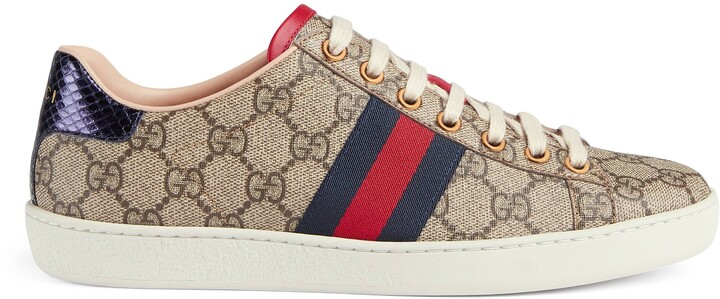 Gucci Ace GG Supreme sneakers - ShopStyle