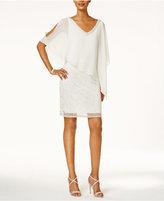 J Kara Embellished Chiffon Overlay Dress