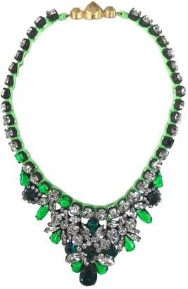 Shourouk Green Crystal Necklaces