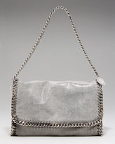 Metallic Chain-Trim Shoulder Bag
