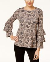 Style&Co. Style & Co Tiered-Sleeve Top, Created for Macy's